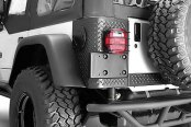 Rugged Ridge® - RRC Rear Bumper, without Tire Carrier, Textured Black