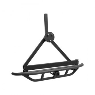 Rugged Ridge® - RRC Rear Bumper, with Tire Carrier, Textured Black