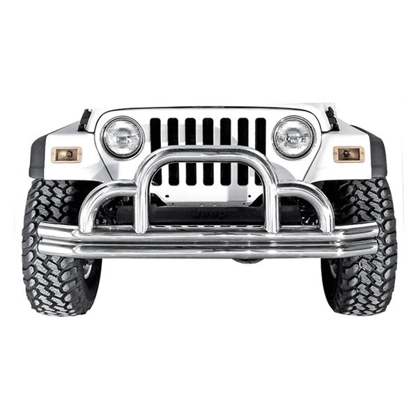 "Rugged Ridge® - ""Defender"" Stainless Steel Front Bumper"