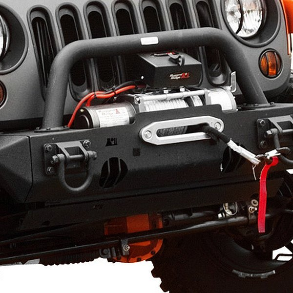 Rugged Ridge® - XHD Winch Mount Front Bumper with Optional Hoop, Ends (Sold Separately)