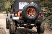 Rugged Ridge® - XHD Alumunium Rear Bumper Pods, Tire Carrier and Bumper Step (Sold Separately)
