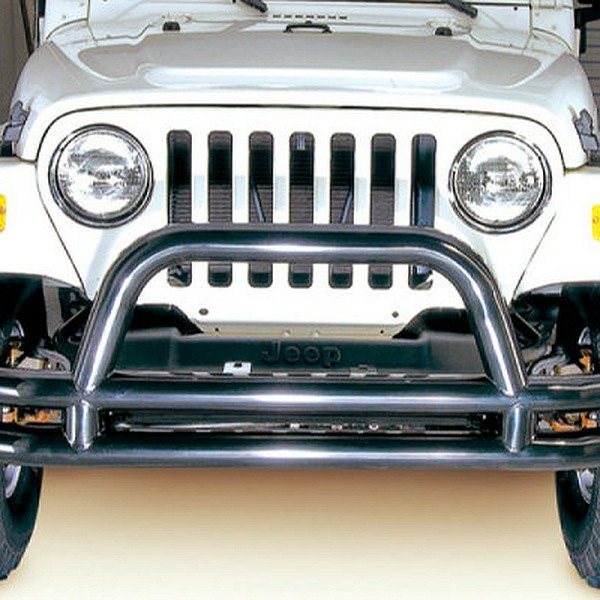 Rugged Ridge® - 3 Tube Front Bumper, with Riser, Black