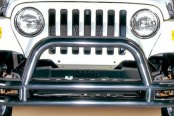 "Rugged Ridge® - 3"" Tube Front Bumper, with Riser, Black"