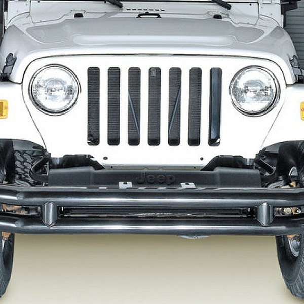 Rugged Ridge® - 3 Tube Front Bumper, without Riser, Black