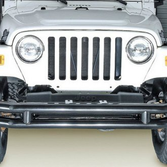 Rugged Ridge® - Full Width Front Tubular Black Bumper