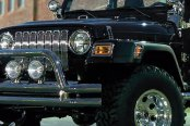 "Rugged Ridge® - 3"" Tube Front Bumper, with Riser, Stainless Steel"