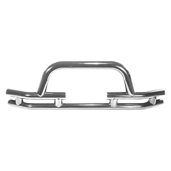 "Rugged Ridge® - 3"" Tube Front Bumper, with Riser and Winch Cut Out, Stainless Steel"