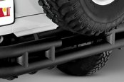 "Rugged Ridge® - 3"" Tube Rear Bumper (W/O Hitch Receiver, Textured Black)"