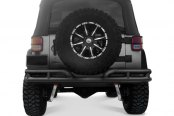 "Rugged Ridge® - 3"" Double Tube Rear Bumper, Textured Black"