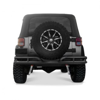 Rugged Ridge® - 3 Double Tube Rear Bumper, Textured Black
