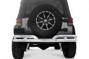 "Rugged Ridge® - 3"" Double Tube Rear Bumper, Stainless Steel"