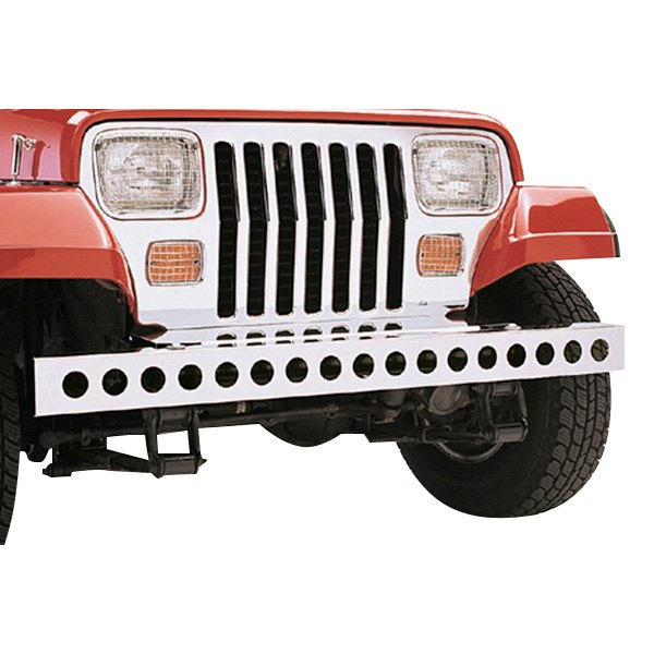 Rugged Ridge® - Front Bumper, with Holes, Stainless Steel