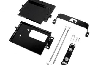Rugged Ridge® - Battery Tray, Dual, Black Powder Coated