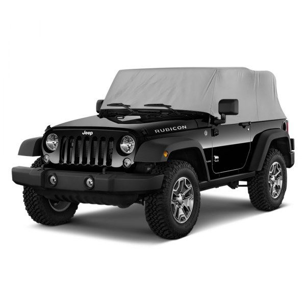 Image may not reflect your exact vehicle! Rugged Ridge® - Water Resistant Gray Cab Cover