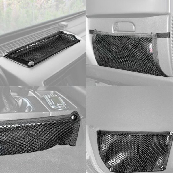 Rugged Ridge® - Interior Mesh Storage Kit (4 Pieces, Glove Box, Console, Door and Dash Trail Nets)