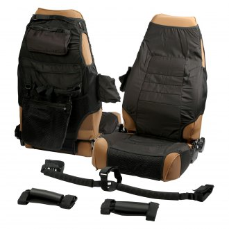 Rugged Ridge® - Black Seat Cover and Grab Handle Kit