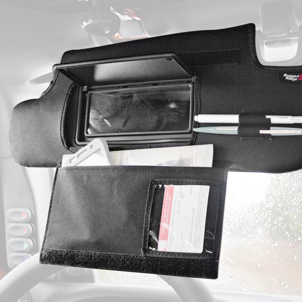 Rugged Ridge® - Sun Visor Organizers Black