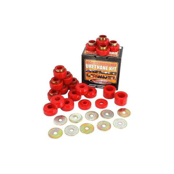 Rugged Ridge® - Body Mount Bushings Kit, 22 Pieces Kit, Red