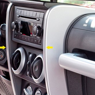 Rugged Ridge® - Center Dash Accent, Brushed Silver