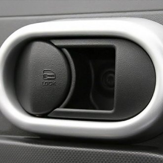 Rugged Ridge® - Interior Door Handle Trim Brushed Silver