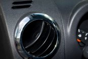 Rugged Ridge® - A/C Vent Trim Rings, Chrome
