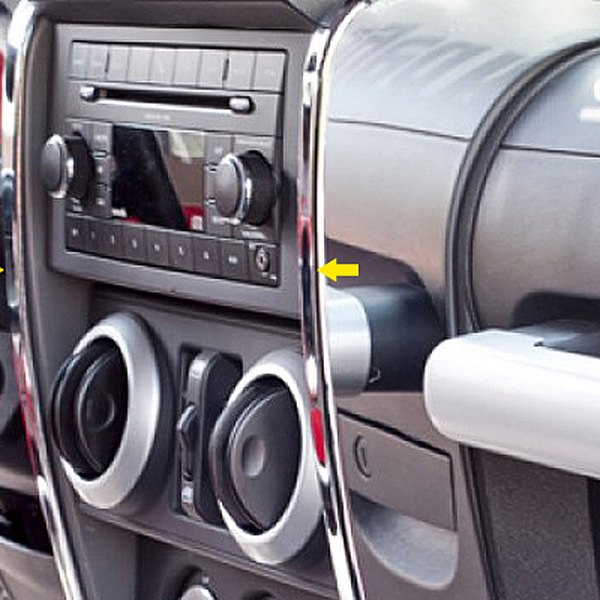 Rugged Ridge® - Center Chrome Dash Accent