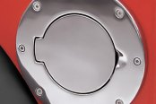 Rugged Ridge® - Gas Cap Cover, Non-Locking, Satin Steel