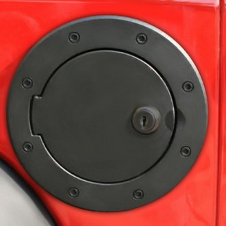Rugged Ridge® - Locking Gas Cap Door Black Aluminum