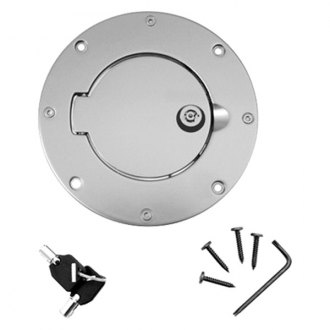 Rugged Ridge® - Brushed Aluminum Locking Gas Hatch Cover