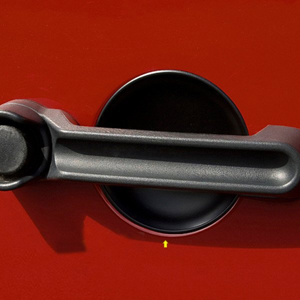 Rugged Ridge® - Black Door Handle Recess Guards