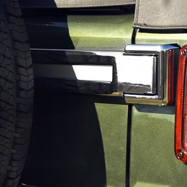 Rugged Ridge® - Chrome Tailgate Hinge Covers