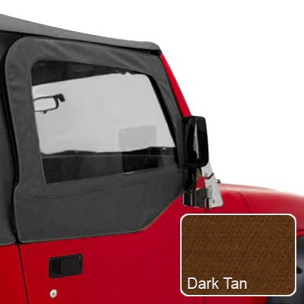 Rugged Ridge® - Upper Soft Door Kit, Dark Tan
