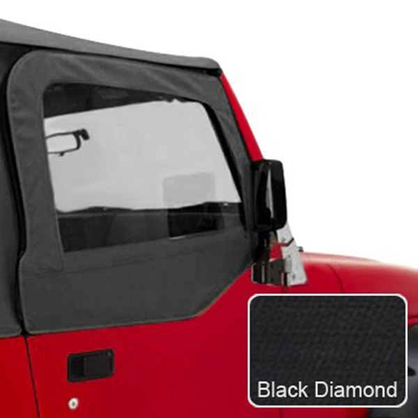 Rugged Ridge® - Upper Soft Door Kit, Diamond Black