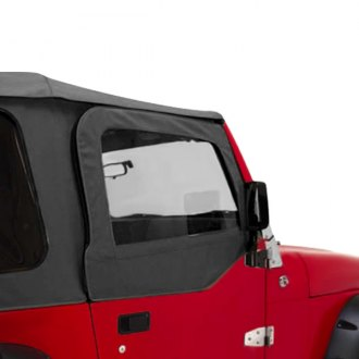 Rugged Ridge® - Upper Soft Door Kit, Black Denim
