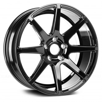 "Rugged Ridge® - 17"" 8 Spokes Trek 8 Black Alloy Wheel"