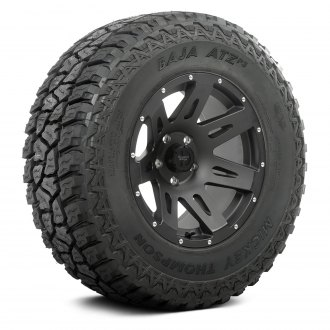 "Rugged Ridge® - 18"" 7 Spokes XHD Black Satin Wheel and Tire Combo"