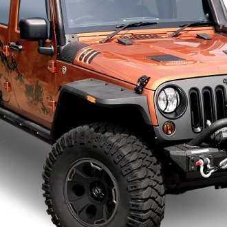 Rugged Ridge® - Hurricane Front and Rear Textured Black Fender Flare Kit