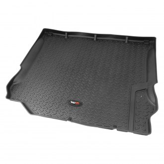 RUGGED RIDGE® - All Terrain Floor Liners  Black Cargo Liner, with Rugged Ridge Logo