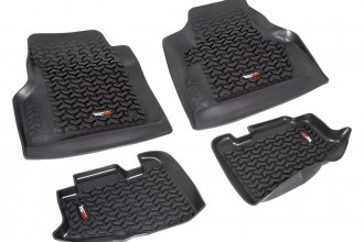 Rugged Ridge® 12987.10 - All Terrain 1st and 2nd Row Floor Liners, Black