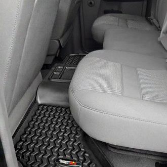 RUGGED RIDGE® - All Terrain Floor Liners 2nd Row Black Floor Liners