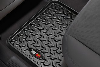 Image may not reflect your exact vehicle! Rugged Ridge® - All Terrain 1st & 2nd Row Black Floor Liners Set