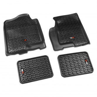 Rugged Ridge® - All Terrain 1st Row Black Floor Liners