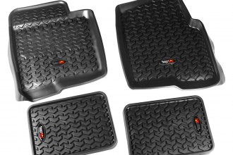 Rugged Ridge® 82987.23 - All Terrain 1st and 2nd Row Floor Liners, Black