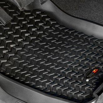 Rugged Ridge® - All Terrain 1st & 2nd Row Black Floor Liners Set