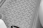 Image may not reflect your exact vehicle! Rugged Ridge® - All Terrain 2nd Row Gray Floor Liner