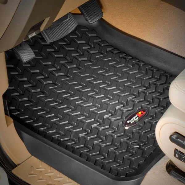 Image may not reflect your exact vehicle! Rugged Ridge® - All Terrain Floor Liners, Black