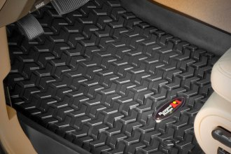 Rugged Ridge® 82903.08 - All Terrain 1st Row Black Floor Liners