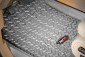 Image may not reflect your exact vehicle! Rugged Ridge® - All Terrain 1st Row Gray Floor Liners