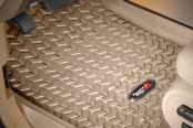 Image may not reflect your exact vehicle! Rugged Ridge® - All Terrain Floor Liners, Tan
