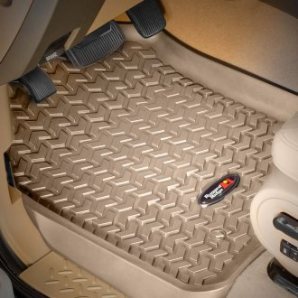 Image may not reflect your exact vehicle! Rugged Ridge® - All Terrain 1st Row Tan Floor Liners